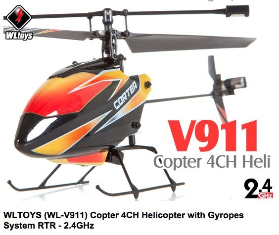 WLtoys v.911 távirányítós RC helikopter, 4 csatornás, 2.4Ghz!