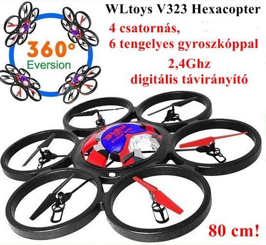 WLtoys V323 80 cm-es Hexacopter