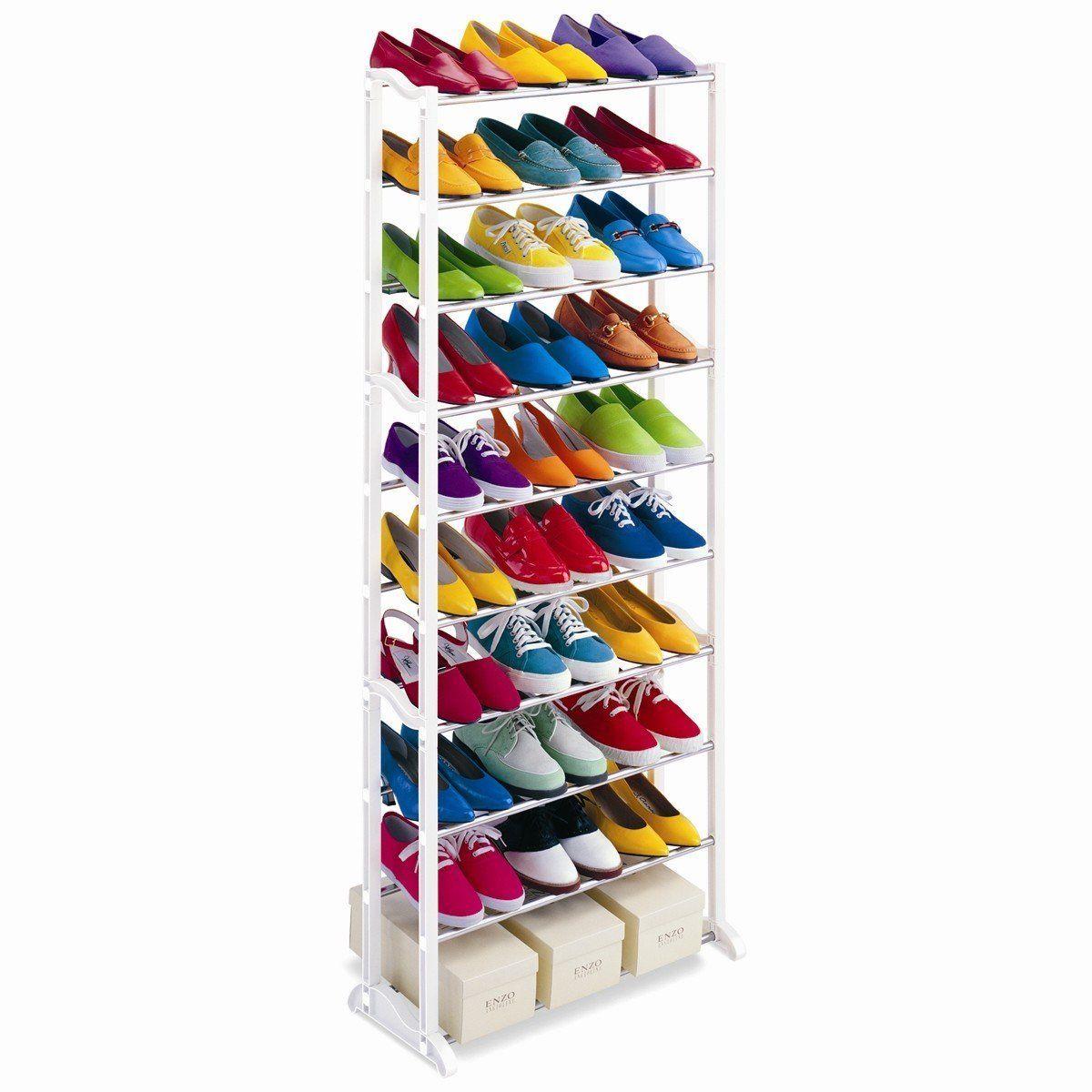 Image of 10 soros cipőtároló állvány, 30 pár cipőnek
