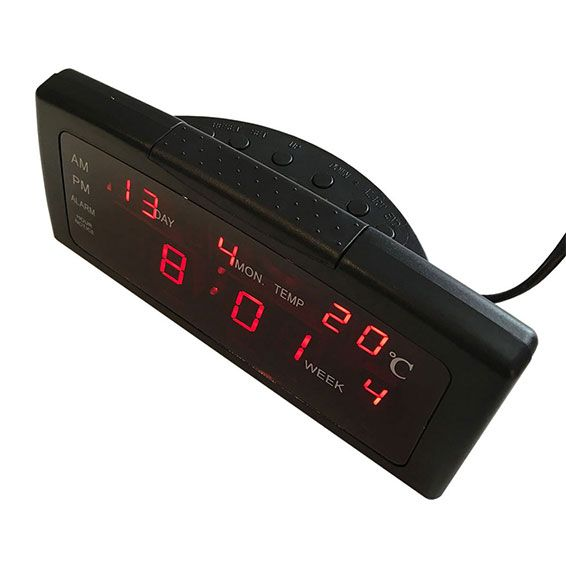 ZXTL-13a, asztali led óra, idő, dátum, hét, hőmérséklet kijelzéssel