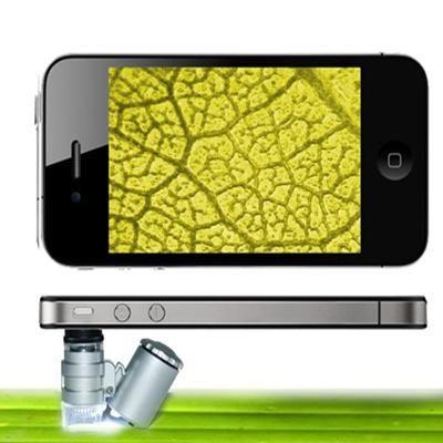 Iphone 4 mini LED mikroszkóp 60x nagyítás, UV