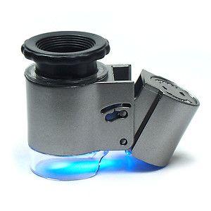 50X mikroszkóp és LED-valuta detektor 9882A
