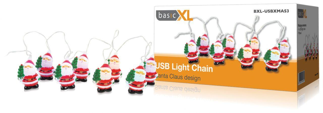 USB télapó fénylánc