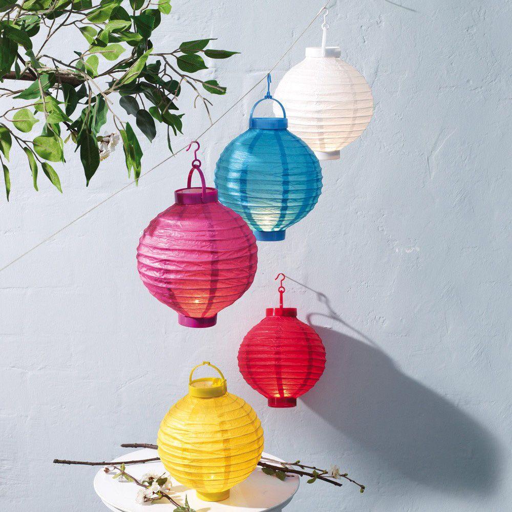 LED-es lampion többféle színben, 20 cm
