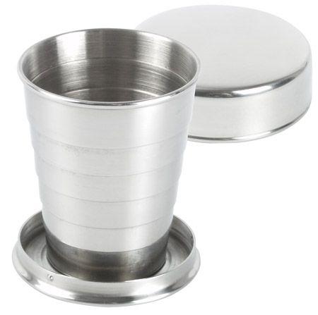 Összecsukható fém pohár
