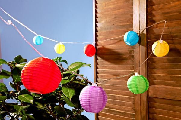 10 LED-es, elemes party lampion