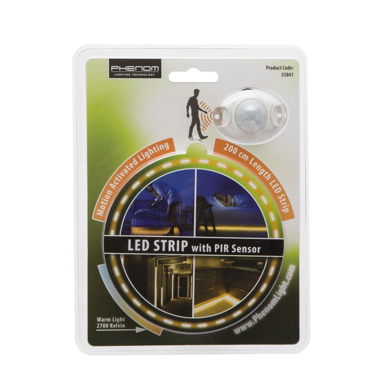 LED szalag, mozgásérzékelő szenzorral, 200 cm