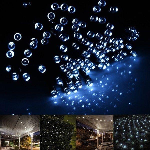 100 LED-es, napelemes fényfüzér