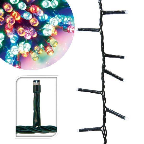 120 LED-es, melegfehér és színes fényfüzér