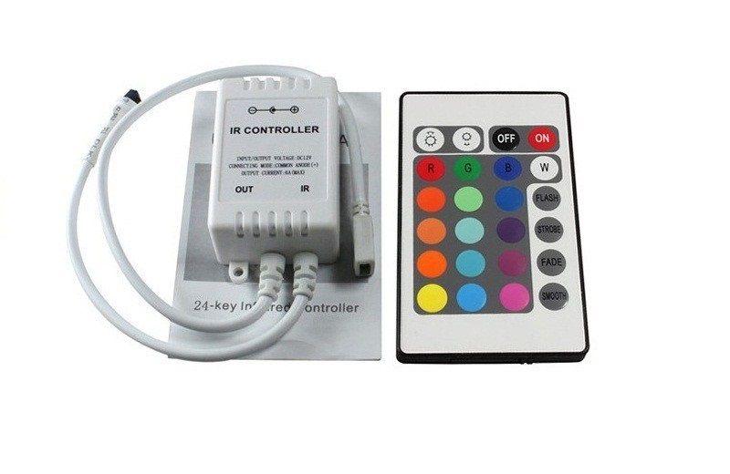 Programozható, RGB, 5 méteres LED szalag, távirányítóval