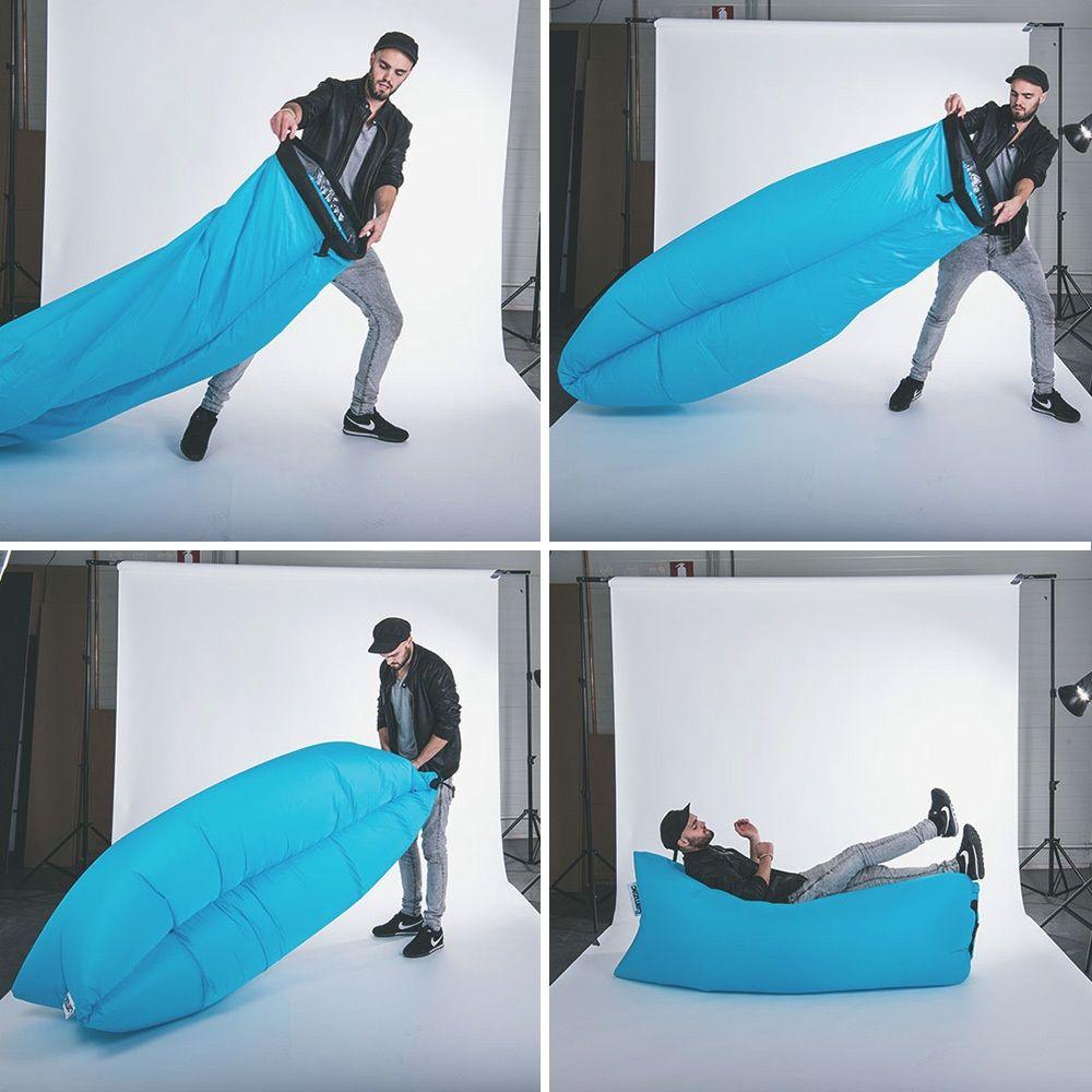 Levegővel feltölthető ágy, strandoláshoz, kempingezéshez