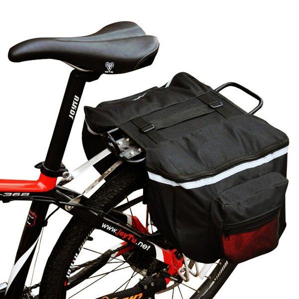 Dupla kerékpár táska csomagtartóra