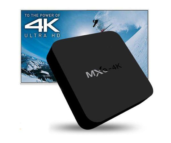 Androidos TV okosító box, 8GB tárhellyel 4K Ultra HD felbontással
