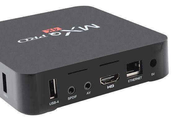 MX-Q PRO Android TV okosító box, Quad Core processzorral