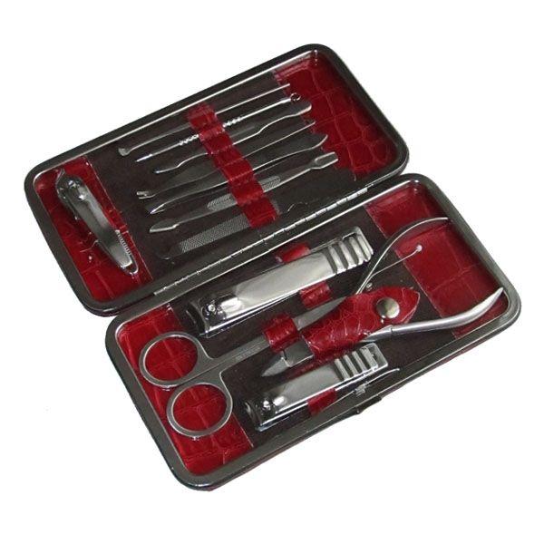 12 db-os kiváló minőségű manikűr készlet bőrtokban d1744ef416
