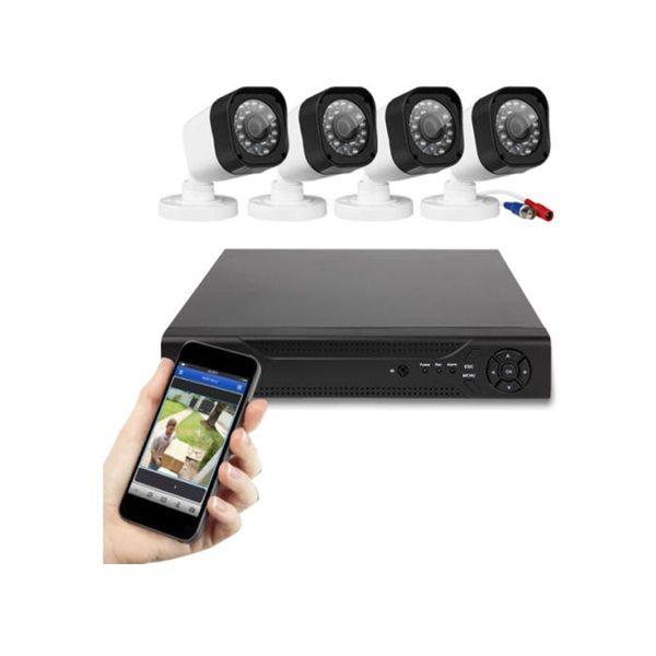 4 kamerás vezetékes AHD komplett megfigyelő rendszer kül-és beltérre