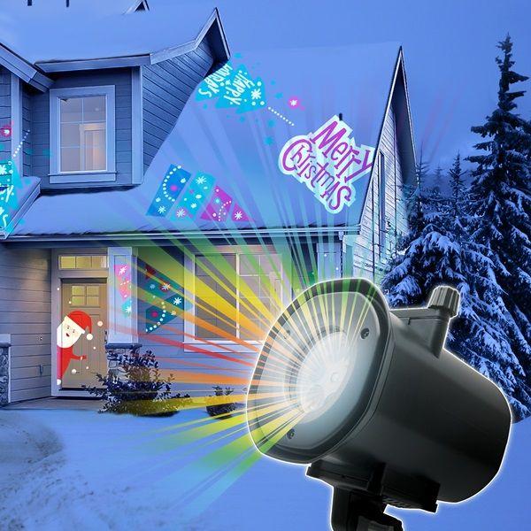 LED-es partyfény, 4 db cserélhető mintával