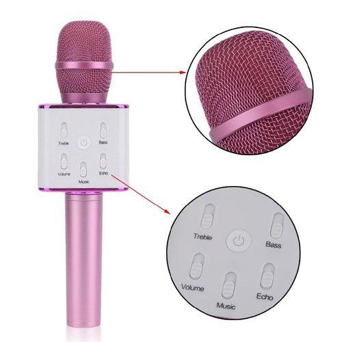 Karaoke mikrofon és hangszóró Bluetooth kapcsolattal, visszhang effekttel