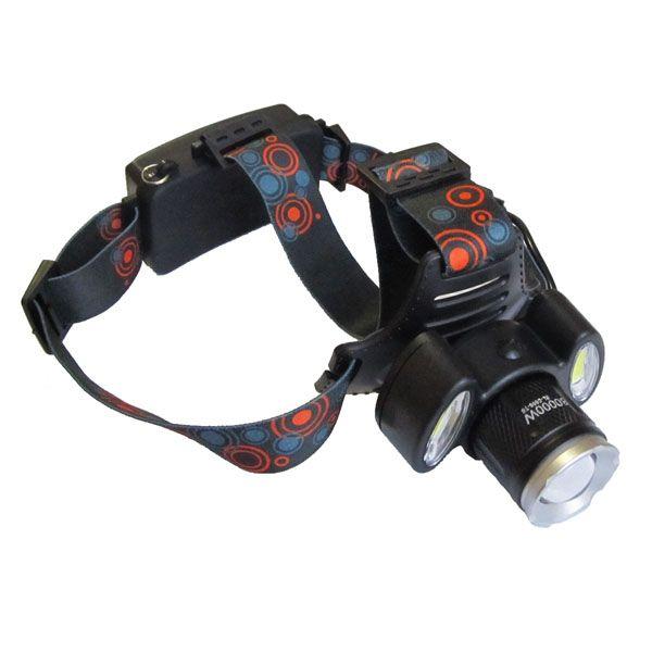 Nagy fényerejű akkus, ledes fejlámpa, reflektorral, BL-C866-T6