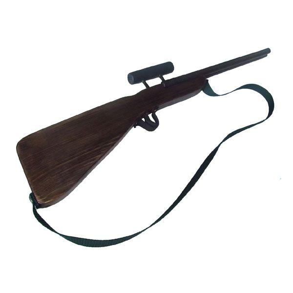 Játék távcsöves vadászpuska fából