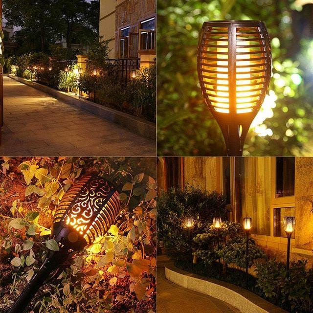 Napelemes, lángoló fényű, kültéri led lámpa