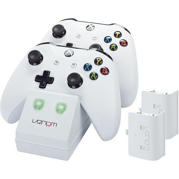 Xbox One fehér töltőállomás, 2db akkumulátorral