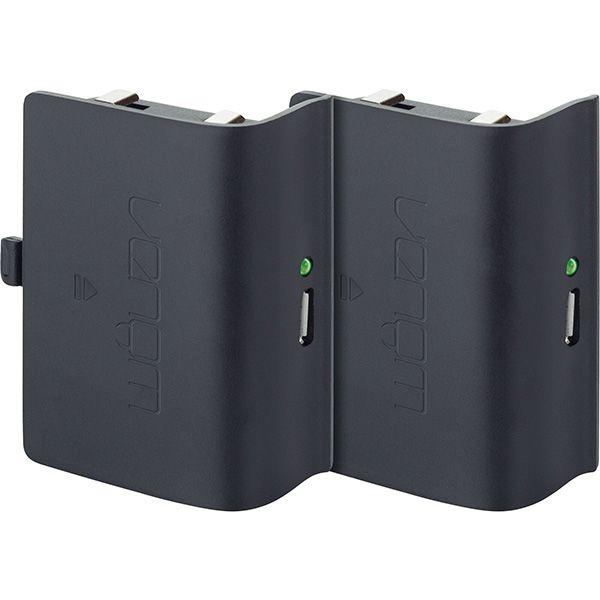 Xbox One fekete akkucsomag (2db), 2 méter töltőkábellel