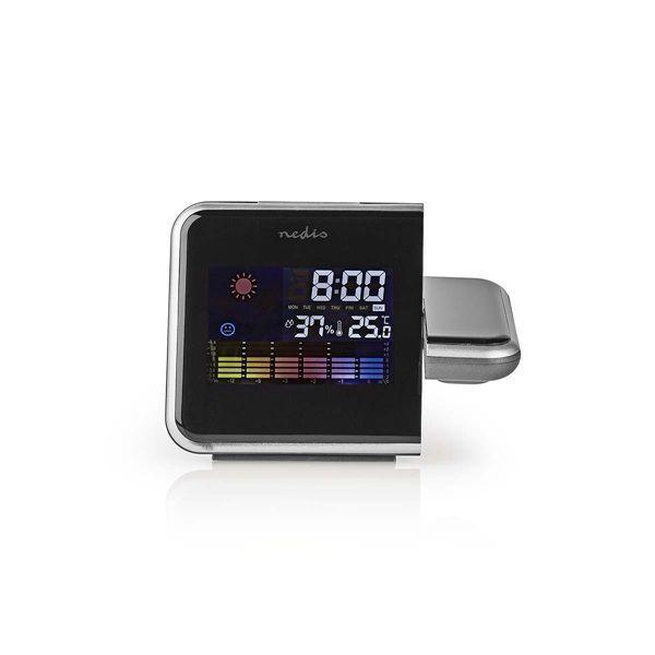 Kivetítős (projektoros) időjárásjelző óra, adapterrel