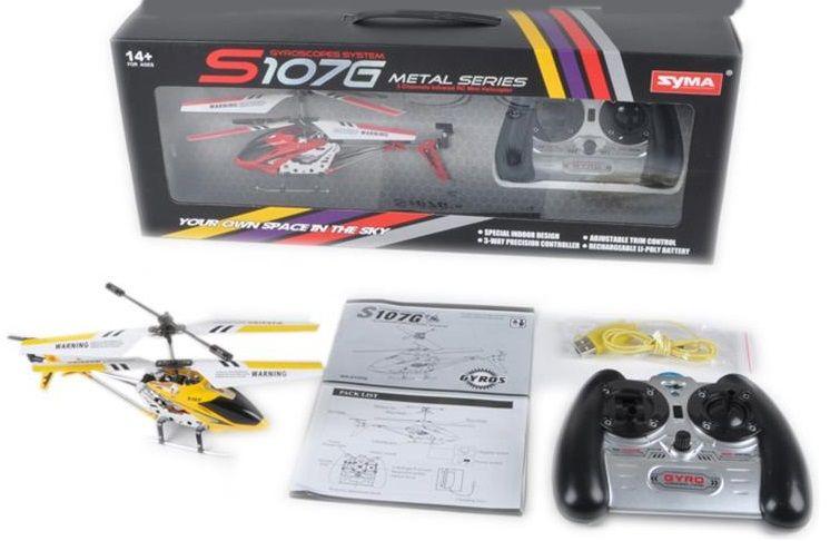 SYMA S107G 3 csatornás giroszkópos helikopter