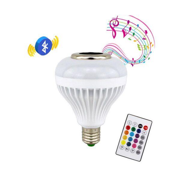 Több színben világító, hangszórós LED izzó