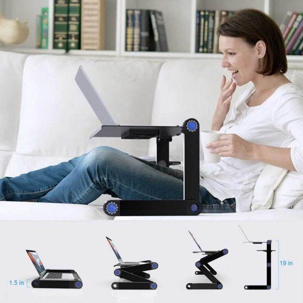 Több ponton állítható laptoptartó, egértálcával