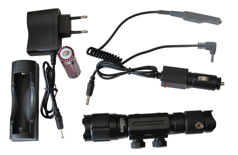 Fegyverre rögzíthető zoom-os LED lámpa