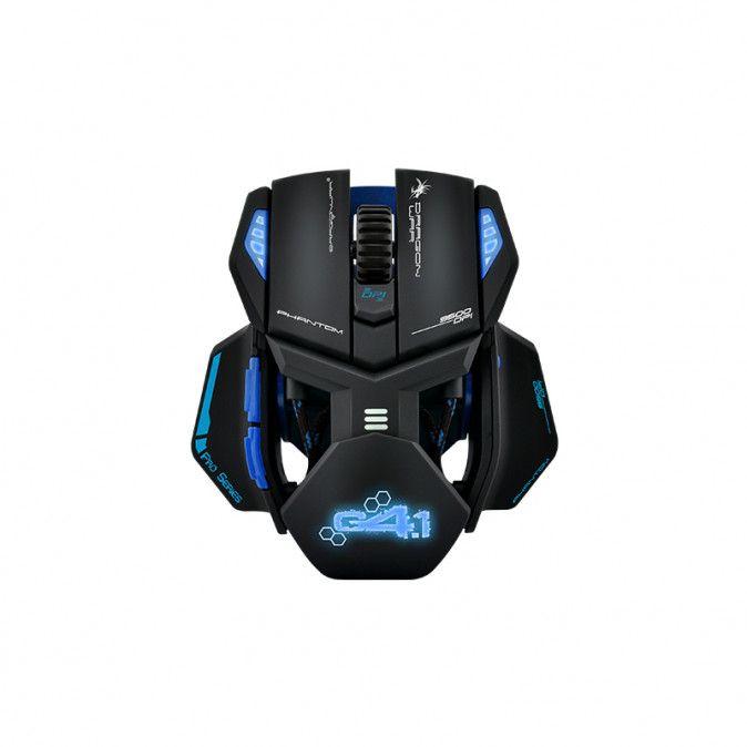 Dragon War Phantom 4.1 Gamer egér, fekete/kék