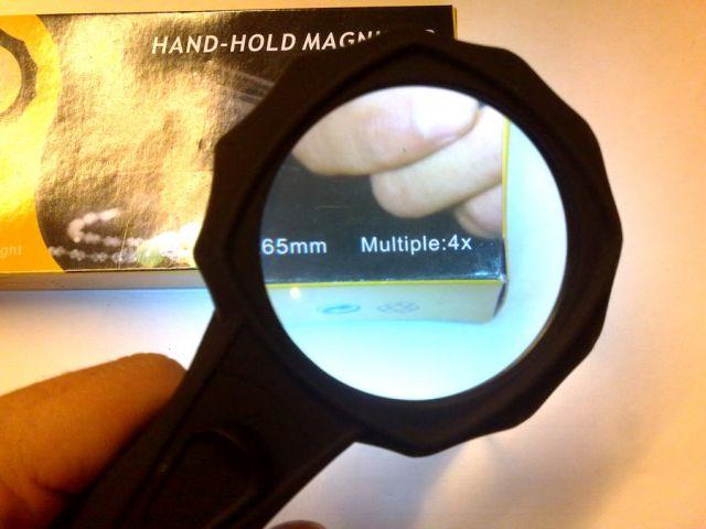 Hand-Hold Magnifier, 4x kézi nagyítós lámpa, led világítással