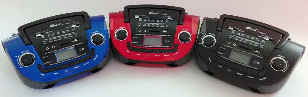 Mp3 lejátszó + rádió, tölthető, Fepe FP-201U